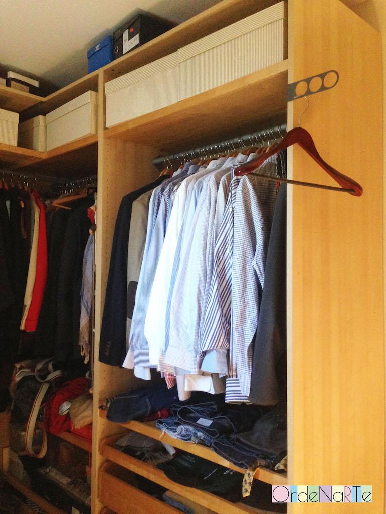 trucos para ordenar un vestidor