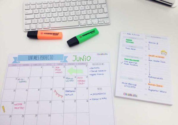 plannings para organizar el tiempo