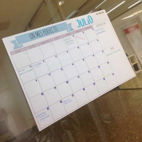 cómo planificar el mes en la agenda
