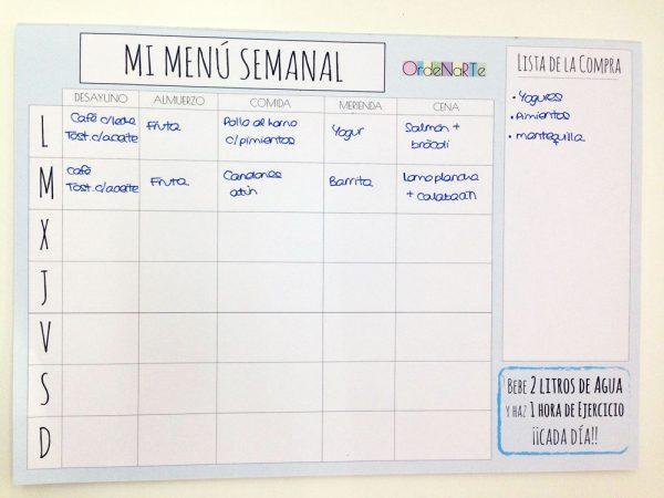 bloc organizador para apuntar lo que comes