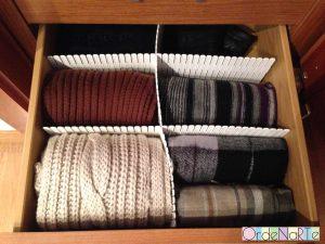 bufandas ordenadas