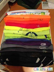 camisetas ordenadas