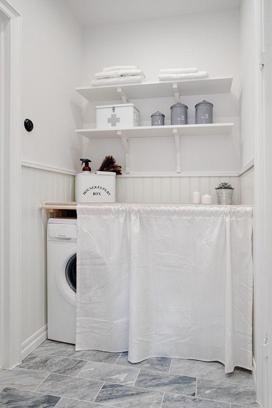 C mo organizar la zona de lavander a en casa y los for Lavar cortinas en lavadora